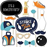 Strike Up the Fun – Bowling – 誕生日パーティーベビーシャワーまたは写真ブース小道具キット – 20カウント