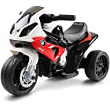RIGO Kids Ride On Car BMW Licensed Toy Motorbike Motorcycle Police Car-Red
