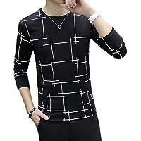 (ランドロップ) landrop 幾何学 模様 ラウンド ネック 長袖 tシャツ メンズ ロンt カットソー