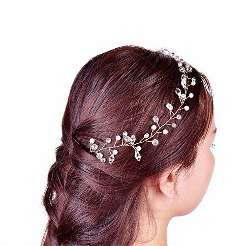 OSHIDE 髪飾り カチューシャ お花の冠 パール 子供 ...