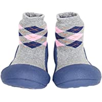 Attipas Argyle Baby Walker Shoes, Navy, Medium
