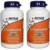 【バリュー2本セット】[海外直送品] NOW Foodsお得サイズ L-カルノシン 500mg 100粒 L-Carnosine 500 mg - ...