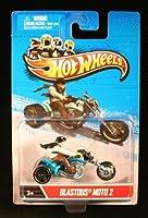 BLASTOUS MOTO 2 * MOTORCYCLE & RIDER * Hot Wheels 1:64 Scale 2012 Die-Cast Vehicle