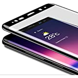 HotGame 強化ガラスフィルム Samsung Galaxy Note 8 ガラスフィルム ラウンドエッジ 3D 曲面 全面保護ガラス 9H 飛散防止 高透過率 気泡防止 自動吸着 1枚入り (1)
