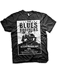 Officially Licensed The Blues Brothers Poster Mens T-Shirt (Black)