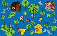 Kid Carpet FE705-76Y Huff and Puff Nylon Area Rug 12' x 15' Multicolored [並行輸入品]