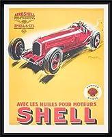 ポスター ハム シェル 1934年 額装品 ウッドハイグレードフレーム(ブラック)