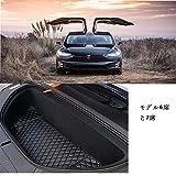 Topfit テスラモーターズ テスラ ラゲッジマット tesla model X フロントトランク モデルX 防水 高級レザー 保護 耐久性 汚れ