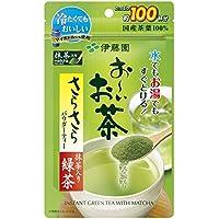 伊藤園 おーいお茶 抹茶入りさらさら緑茶 80g (チャック付き袋タイプ)