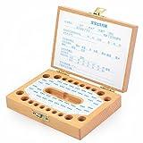 かわいい 歯の 絵柄 木製 日付 記入もできる 乳歯 ケース 出産 お祝い お子様 の 成長 記録 保存
