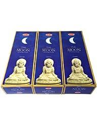 ムーン香スティック 3BOX(18箱)/HEM MOON/インセンス/インド香 お香 [並行輸入品]