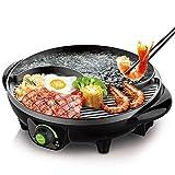 DHINGM 電気誘導鍋炊飯器、2で1つ以上のポット、便利で高速ステンレス鋼BBQ&鍋、フライパンクックグリル、キッチンパンマルチクッカー、ライスキッチントップスープメーカー、
