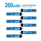 betafpv 8pcs 260mAh HV 1s 30C LiPoバッテリー3.8V with jst-ph 2.0powerwhoopコネクタfor Tiny WhoopブレードInductrix 00312831