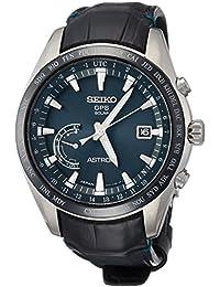 [アストロン]ASTRON 腕時計 ASTRON GPSソーラー電波 ワールドタイム機能 チタンモデル ダークグリーン文字盤 クロコダイル革バンド SBXB115 メンズ
