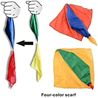 Magic Silk Scarf 1 Piece Change Color for Magic Trick Streets Toys [並行輸入品]