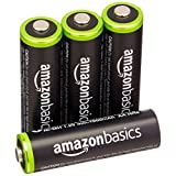 Amazonベーシック 充電池 充電式ニッケル水素電池 単3形4個パック (最小容量1900mAh、約1000回使用可能)