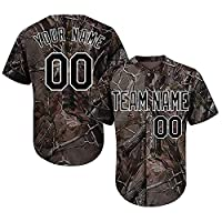 QimeiJer Customized Camo Baseball Softball Jersey Add Your Name & Numbers 214
