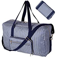 Foldable Travel Bag Water Resistant Travel Duffle Bag Carry on Bag with Lining and Shoulder Strap