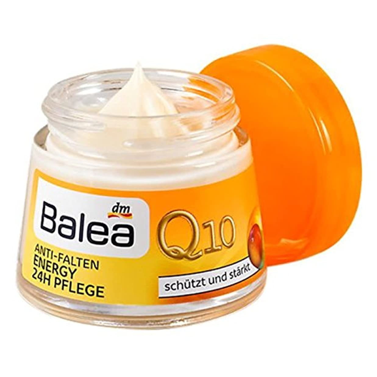 供給逸脱分析的Balea Day Care Q10 Anti-Wrinkle Energy 24hケア 50 ml