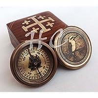 ヴィンテージ/アンティークスタイルMarine Navigational旅行コンパスとデザイナー木製ボックス