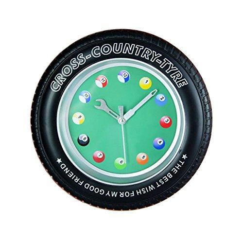 ビリヤードクロック 時計 壁掛け 置時計 ビリヤード オシャ...