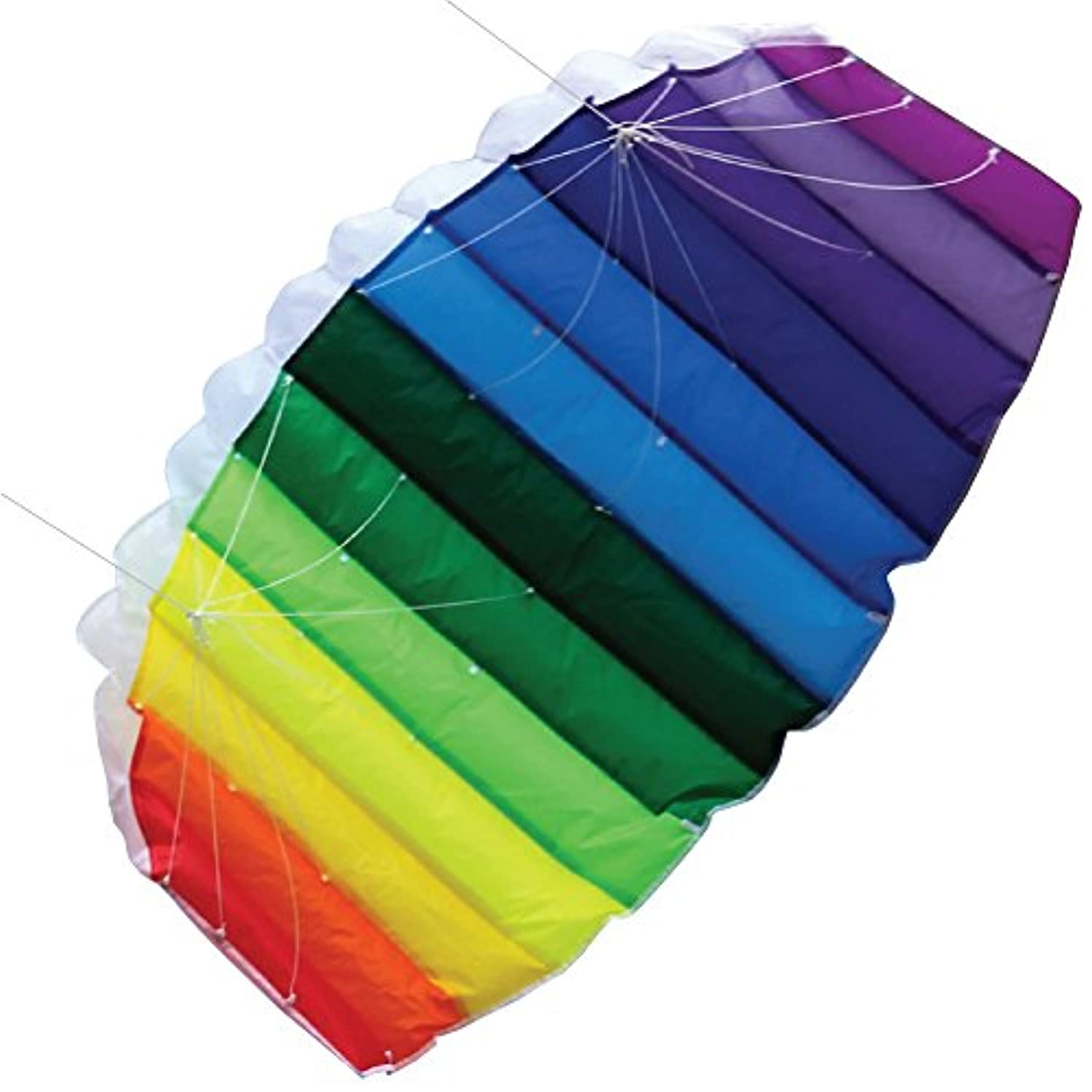 Moon Glow Sports Airfoil Kite Dual-Line with Kite Strings, Handles, Carry Bag, Winder, FREE Kite Flying Tips eBook, Easy Assembly