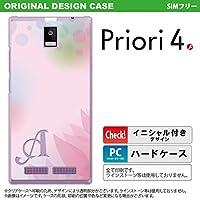 FTJ162D スマホケース Priori4 ケース プリオリ4 イニシャル ぼかし模様 ピンク nk-pri4-1593ini I