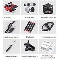 S13フルHD 1080Pカメラ4チャンネル6軸ロングエンディアンリモートコントロールクアドコプターカメラドローン測位システム航空機(色:赤)