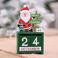 ウッドクリスマスアドベントカレンダークリスマスデコレーションホームクリスマスオーナメントウィンドウデコレーションおもちゃポータブルクリスマスツール - マルチカラー