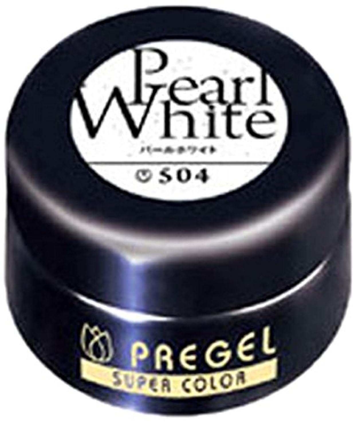 長老皮肉メロディアスプリジェル スーパーカラーEX パールホワイト 4g PG-SE504 カラージェル UV/LED対応