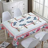 テーブルクロスコーヒーテーブルクロス正方形のテーブルクロスナショナルスタイルのシンプルな近代的なフラットな布の防水テーブルクロス (色 : C, サイズ さいず : 130 * 180cm)