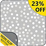 "51"" Waterproof Splat Mat for Under High Chair, Anti-Slip Floor Splash Mat, Portable Feeding Mat,Grey Play Mat and Table Cloth for Art/Crafts, pet/Animal Friendly Ariond Kids Washable"