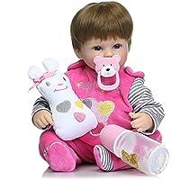 リボーン赤ちゃん BigTron ソフトシミュレーションシリコーンビニール製 ビニールリアル 人形 リボーンベビードール 15.8インチ40cm 磁気口リアルなアクリルの目 可愛い子供おもちゃ 安全認証