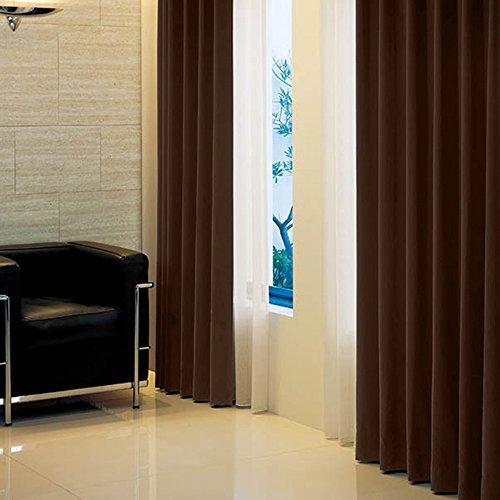 窓美人 アラカルト 1級遮光カーテン ビターチョコレート 幅100×丈185cm 2枚組 フック タッセル 断熱 省エネ 高級感のある生地