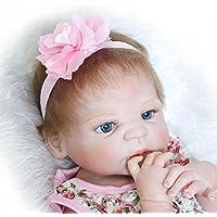 Rebornベビー人形Full Body Girlシリコン22インチビニールReal Born新生児人形子供ギフトwith Magnet Pacifier