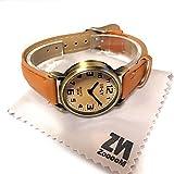 レディース ファッション ZooooM シンプル デザイン ウォッチ フェイク 文字盤 アナログ 腕 時計 ファッション アクセサリー ユニーク カジュアル レディース 女性 メンズ 男性 ユニセックス (ブラウン) ZM-TISITI-BR