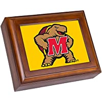 Collegiate Digital Music Jewellery Box Finish: Wood Grain, NCAA Team: University of Maryland - Terrapins