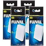 (4 Pack) Fluval U2 Underwater Filter Foam Pads, 2 Pads Each