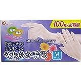 やわらか手袋 ビニール素材 Mサイズ 100枚入x10
