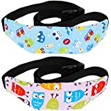 Rovtop Baby Car Head Support, 2 Pcs Toddler Car Seat Head Strap Nap Aid Holder Belt, Neck Protection Belt