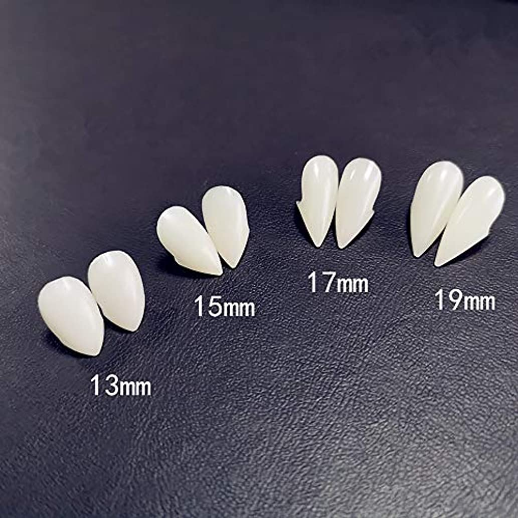 口ひげ規定尾6ペア牙キット歯の入れ歯歯の牙入れ歯小道具ハロウィーンの衣装小道具パーティーの好意休日DIYの装飾ホラー大人のための子供,13mm