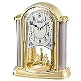 セイコー クロック 置き時計 アナログ 回転飾り 金色 BY418G SEIKO