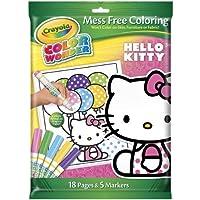 Crayola クレオラ カラー ワンダー Hello Kitty ハローキティ 18ページ&5本マーカー 【並行輸入品】