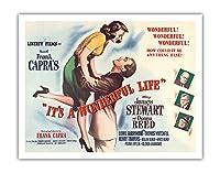"""フランク Capra's """"それは素晴らしいライフです"""" - James Stewart、ドナ・リードの出演 - ビンテージなフィルム映画のポスター c.1946 - アートポスター - 28cm x 36cm"""