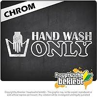 Kiwistar 手洗のみ Hand Wash Only 20cm x 6cm 15色 - ネオン+クロム! ステッカービニールオートバイ