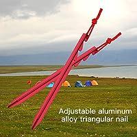 auntwhale 18cmテントネイルアルミニウム合金3つエッジテントアクセサリー( 1pc )