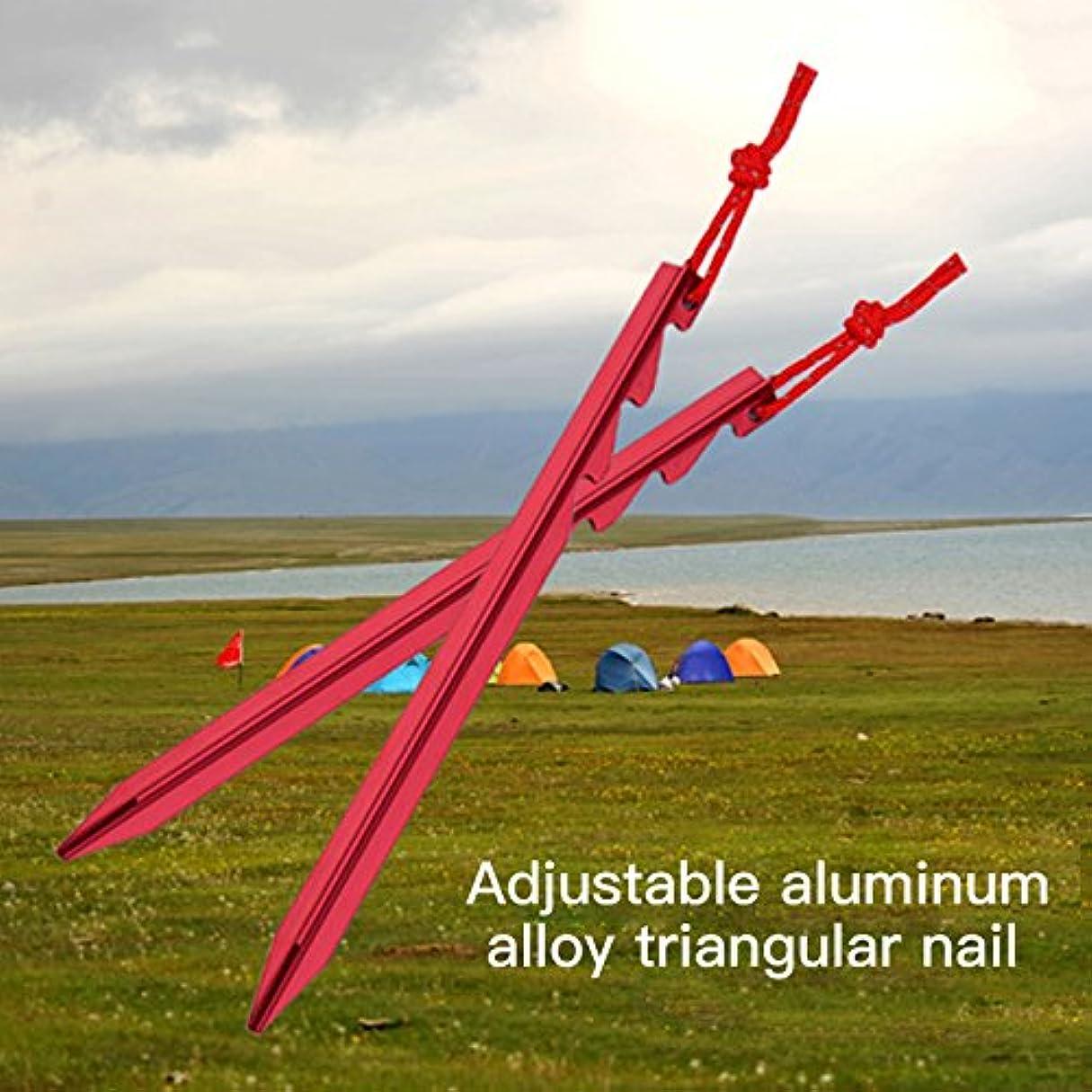 振る舞いバン匿名Anyutai 屋外キャンプテントペグ調節可能な雪グラウンドネイルステーク18CMロープ