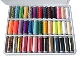 裁縫 手芸 刺繍 用 常備糸 ミシン糸( 39色セット )ケース付