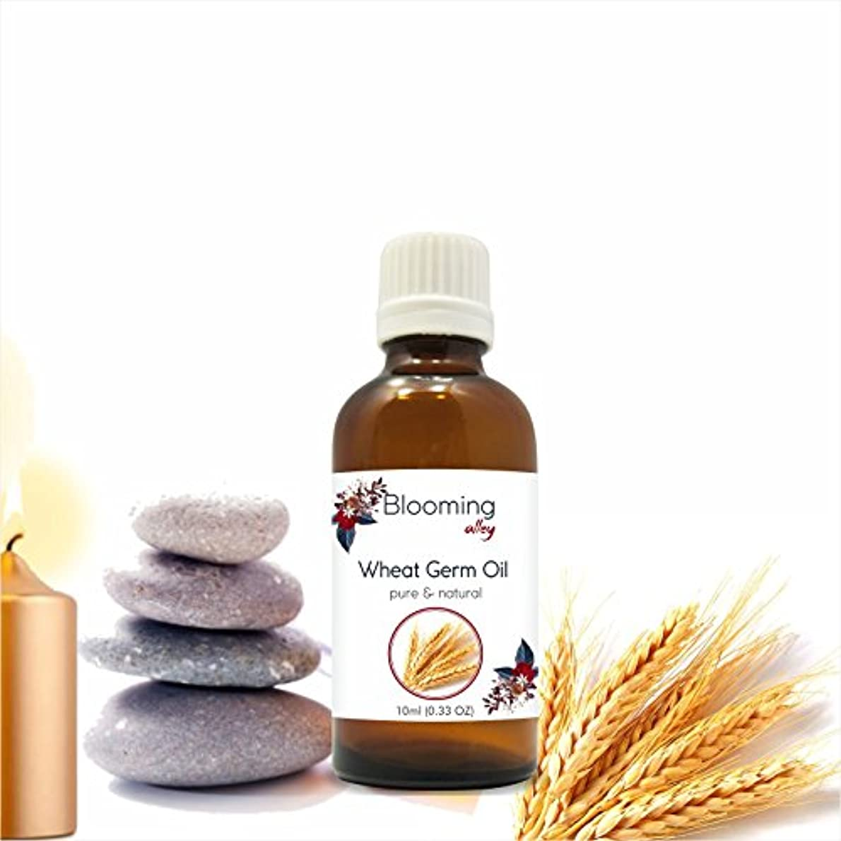 硬い残忍なとんでもないWheatgerm Oil(Triticum Aestivum) Essential Oil 10 ml or 0.33 Fl Oz by Blooming Alley