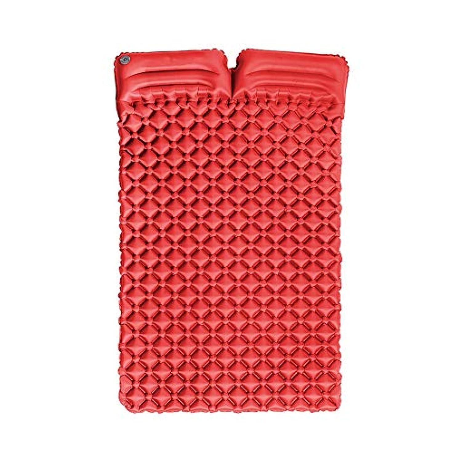 ナンセンスのため理論的インフレータブル超軽量ポータブルダブルエッグネストインフレータブルクッションマットレス屋外テントダブルスリーピングパッド付き枕キャンプマットマット、185×115×5センチ (Color : A)